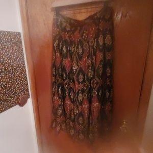 Soft patterned skirt